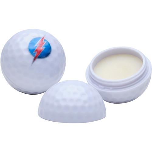 Lippenbalsam in Form eines Golfballs