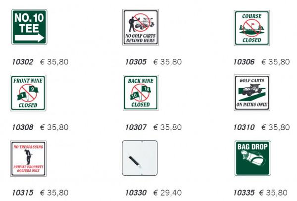 Standard Golf FAIRWAY-SCHILDER & RICHTUNGSMARKER