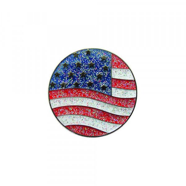 navica CL004-19 Glitzy Ballmarker - American Flag