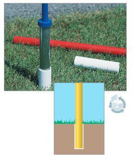 Standard Golf AUSWECHSELBARE PVC GEFAHRENMARKER MIT BODENANKER