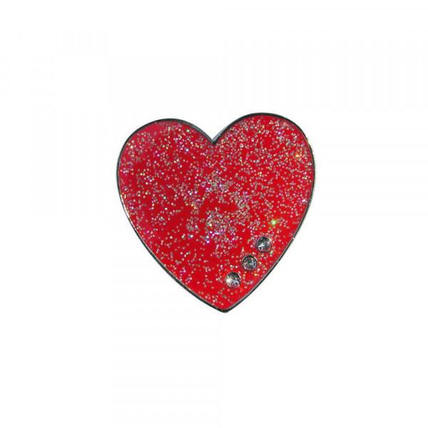 navica CL004-14 Glitzy Ballmarker - Red Heart