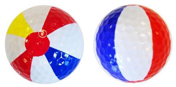 "Designer-Golfbälle 3er Pack ""Beach Ball"""