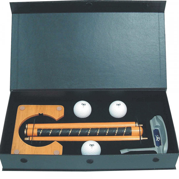 Golftech Geschenkbox Putter und Cup aus Holz