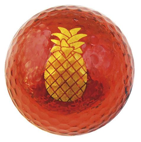 """Metallic Bling 3er Pack Golfbälle """"Ananas rot"""""""