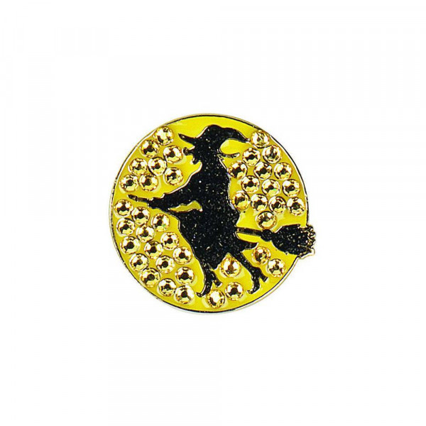 navica CL006-21 Crystal Ballmarker - Witch on broomstick