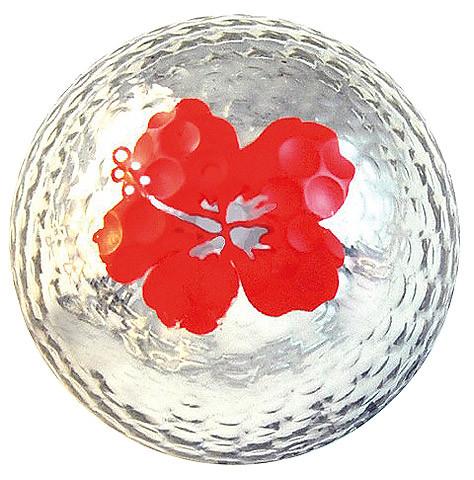 """Metallic Bling 3er Pack Golfbälle """"Hibiscus silber"""""""