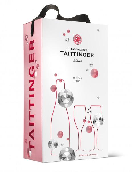 Champagner Rosé in GP mit 2 Gläsern