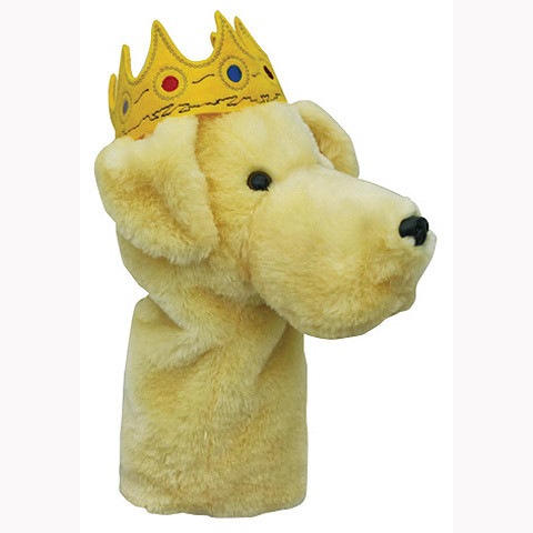 Daphnes Headcover für Driver & Fairway - Yellow Lab with Crown