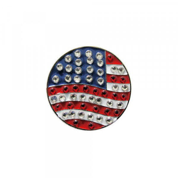 navica CL006-38 Crystal Ballmarker - Flag USA