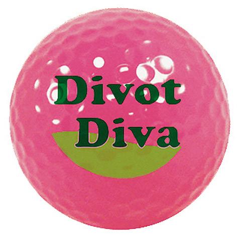 """Designer-Golfbälle 3er Pack """"Divot Diva neon-magenta"""""""