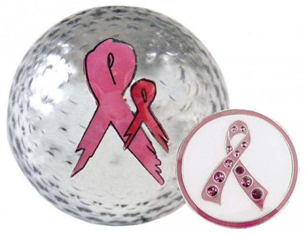"""Navika Geschenkset Golfball und Marker """"Pink Ribbon"""""""