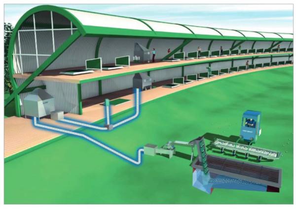 Range Servant Aufzug für Cone Top Ballautomaten, 210 cm - EHM0001