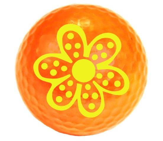 """Designer-Golfbälle 3er Pack """"Daisy neon-orange"""""""