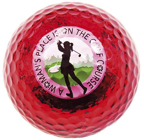 "Metallic Bling 3er Pack Golfbälle ""Woman`s Place rot"""