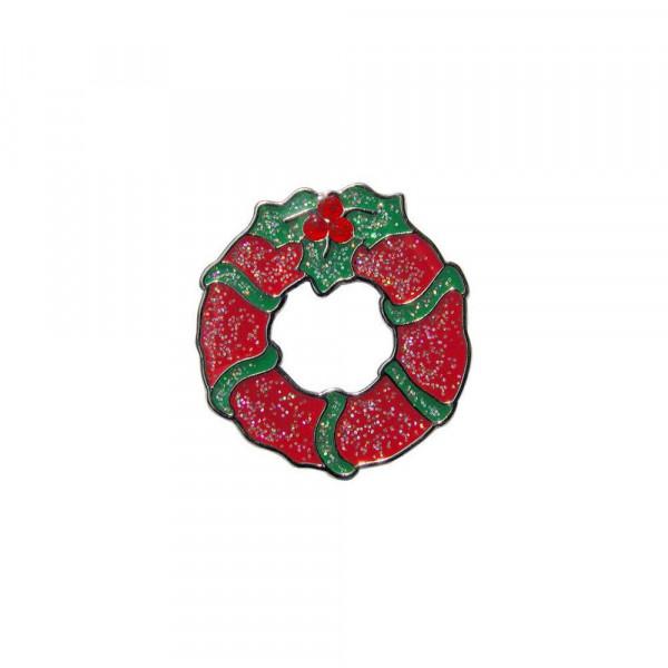 navica CL004-35 Glitzy Ballmarker - Xmas Wreath