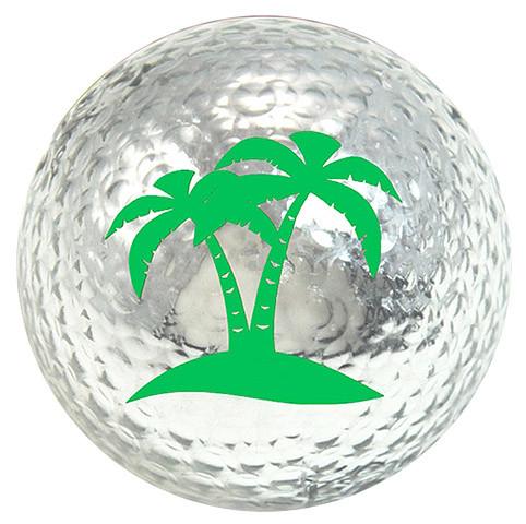 "Metallic Bling 3er Pack Golfbälle ""Palm Tree silber"""