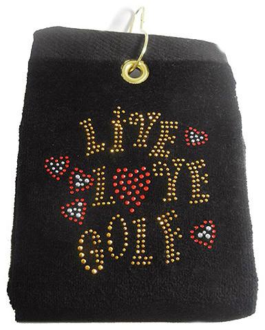 navica T5106-1 Crystal Embellished Handtuch - Live Love Golf