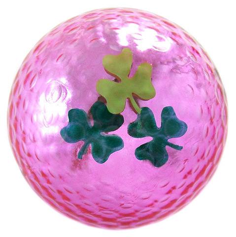 """Metallic Bling 3er Pack Golfbälle """"Shamrock pink"""""""
