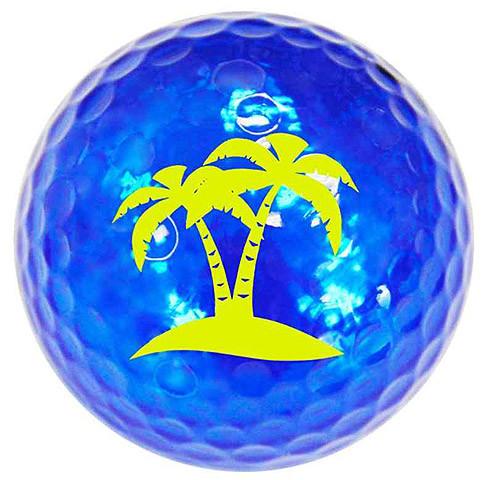 """Metallic Bling 3er Pack Golfbälle """"Palm Tree türkis"""""""