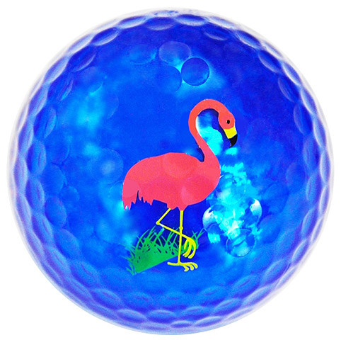 """Metallic Bling 3er Pack Golfbälle """"Flamingo türkis"""""""