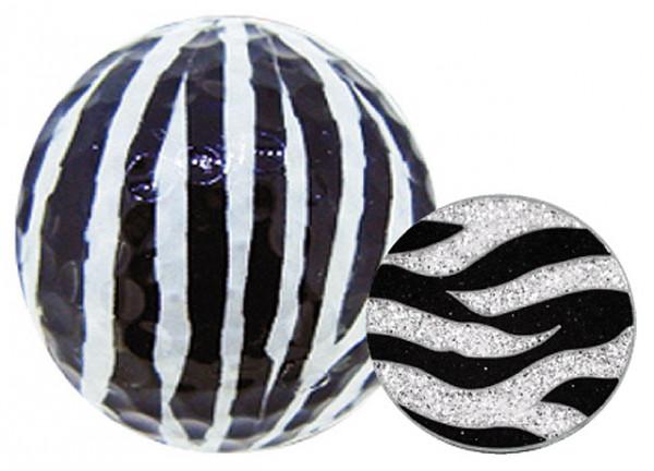"Navika Geschenkset Golfball und Marker ""Zebra"""