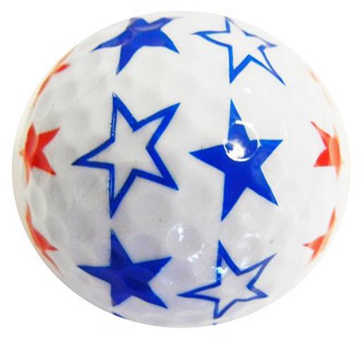 """Designer-Golfbälle 3er Pack """"Stars rwb"""""""