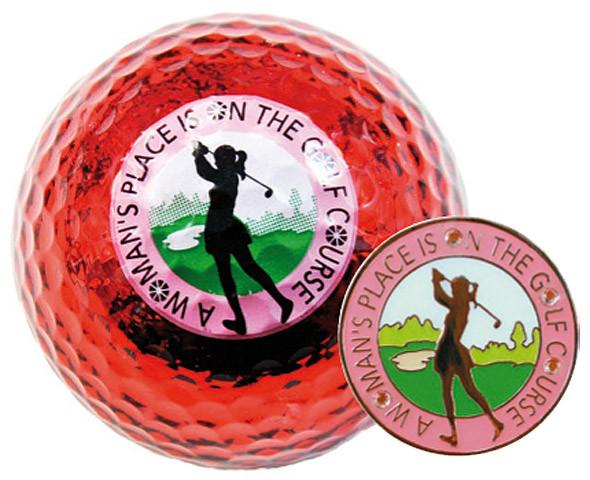 """Navika Geschenkset Golfball und Marker """"Womans Place"""""""