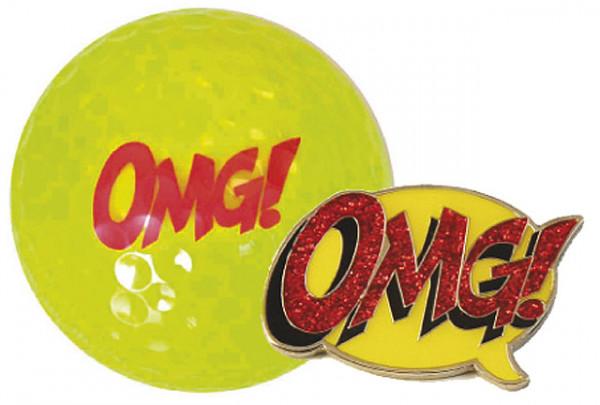 "Navika Geschenkset Golfball und Marker ""OMG"""