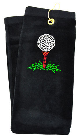 navica T5107-1 Crystal Embellished Handtuch - Golf Tee