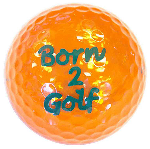"Metallic Bling 3er Pack Golfbälle ""Born2Golf orange"""
